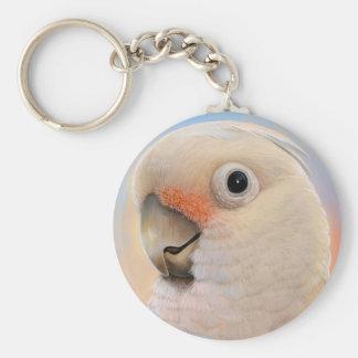 Goffin Tanimbar Corella Cockatoo Basic Round Button Keychain