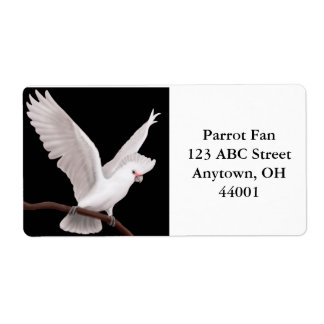 Goffin's Cockatoo Customizable Label Shipping Label