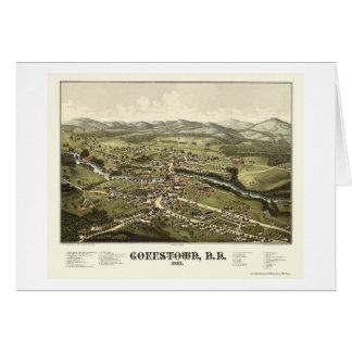 Goffstown, NH Panoramic Map - 1887 Greeting Card