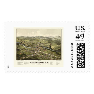 Goffstown, NH Panoramic Map - 1887 Postage Stamp