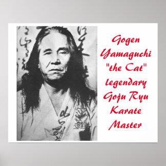 "Gogen ""el gato"" Yamaguchi Póster"