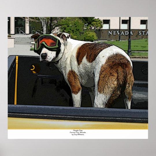 Goggle Dog Poster