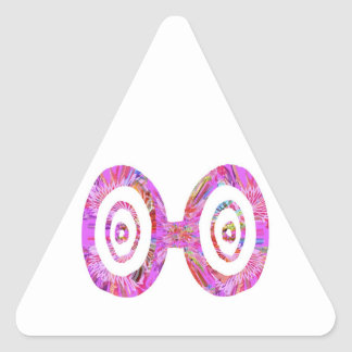 Goggle Sunglasses Spectacles : RedRose PinkRose Triangle Stickers