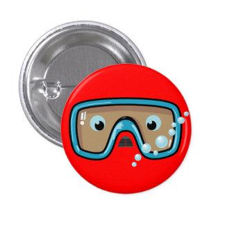 Goggles 1 Inch Round Button