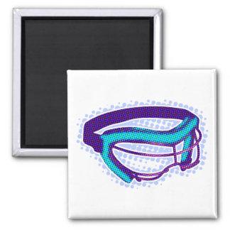Goggles 2 Inch Square Magnet