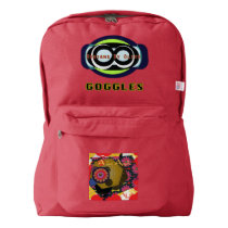 Goggles Backpack, Red Backpack
