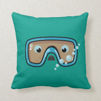 Goggles (Blue) Throw Pillow