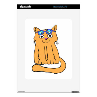 Goggles Cat Decal For iPad