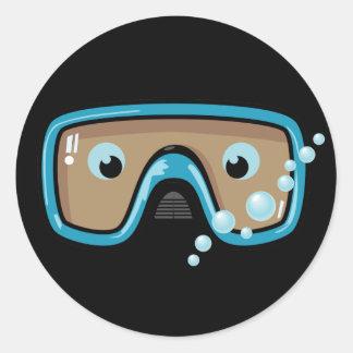 Goggles Classic Round Sticker