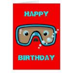 Goggles Greeting Card