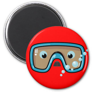 Goggles 2 Inch Round Magnet
