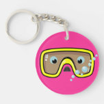 Goggles Personalised Acrylic Key Chain