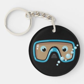 Goggles Personalised Double-Sided Round Acrylic Keychain