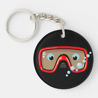 Goggles Personalised Keychain