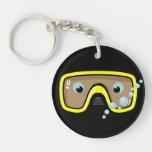 Goggles Personalised Round Acrylic Keychains