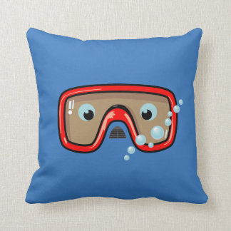 Goggles (Red) Throw Pillow