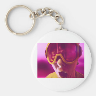 Goggles, Snowboarding Goggles Basic Round Button Keychain