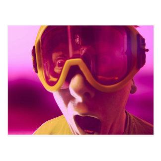 Goggles, Snowboarding Goggles Postcard