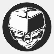 artsprojekt, hiphop, goggles, graffiti, black, white, Sticker with custom graphic design