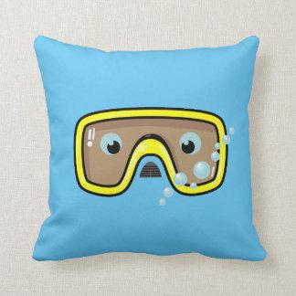 Goggles (Yellow) Throw Pillow