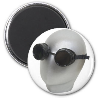 GogglesBlankFace073109 2 Inch Round Magnet