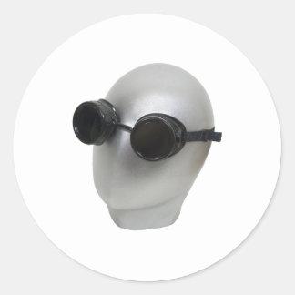 GogglesBlankFace073109 Classic Round Sticker