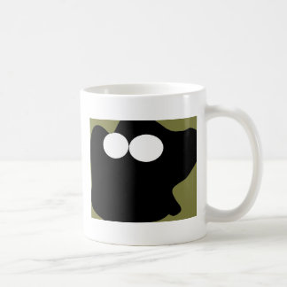Goggling Ghost Classic White Coffee Mug