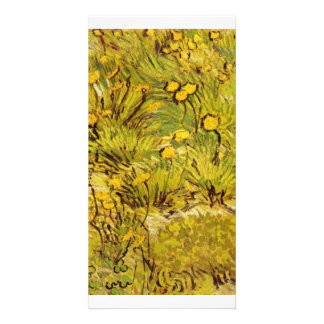 Gogh Field Of Yellow Flowers Personalize Photo Personalized Photo Card