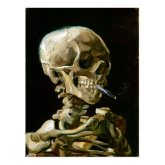Gogh Head of a Skeleton with a Burning Cigarette Postcard