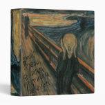 Gogh Mental Remake: The Scream by Edvard Munch Vinyl Binders