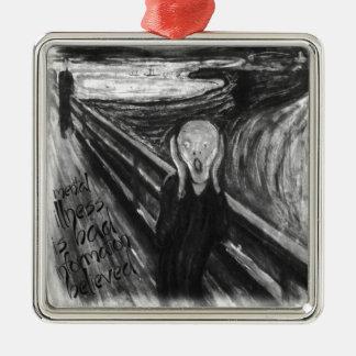 Gogh Mental Remake: The Scream by Edvard Munch Metal Ornament