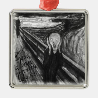 Gogh Mental Remake: The Scream by Edvard Munch Christmas Ornaments
