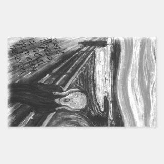Gogh Mental Remake: The Scream by Edvard Munch Rectangular Sticker