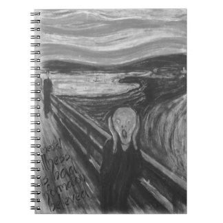 Gogh Mental Remake: The Scream by Edvard Munch Spiral Notebook