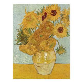 Gogh mit 12 Sonnenbl de Vincent Willem van Stille Postales