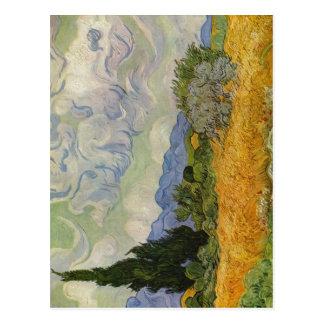 Gogh, mit Zypressen de Vincent Willem van Weizenfe Tarjeta Postal