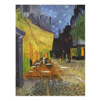 ¿Gogh Vincent van Caf tierra del café de Nacht d Postal