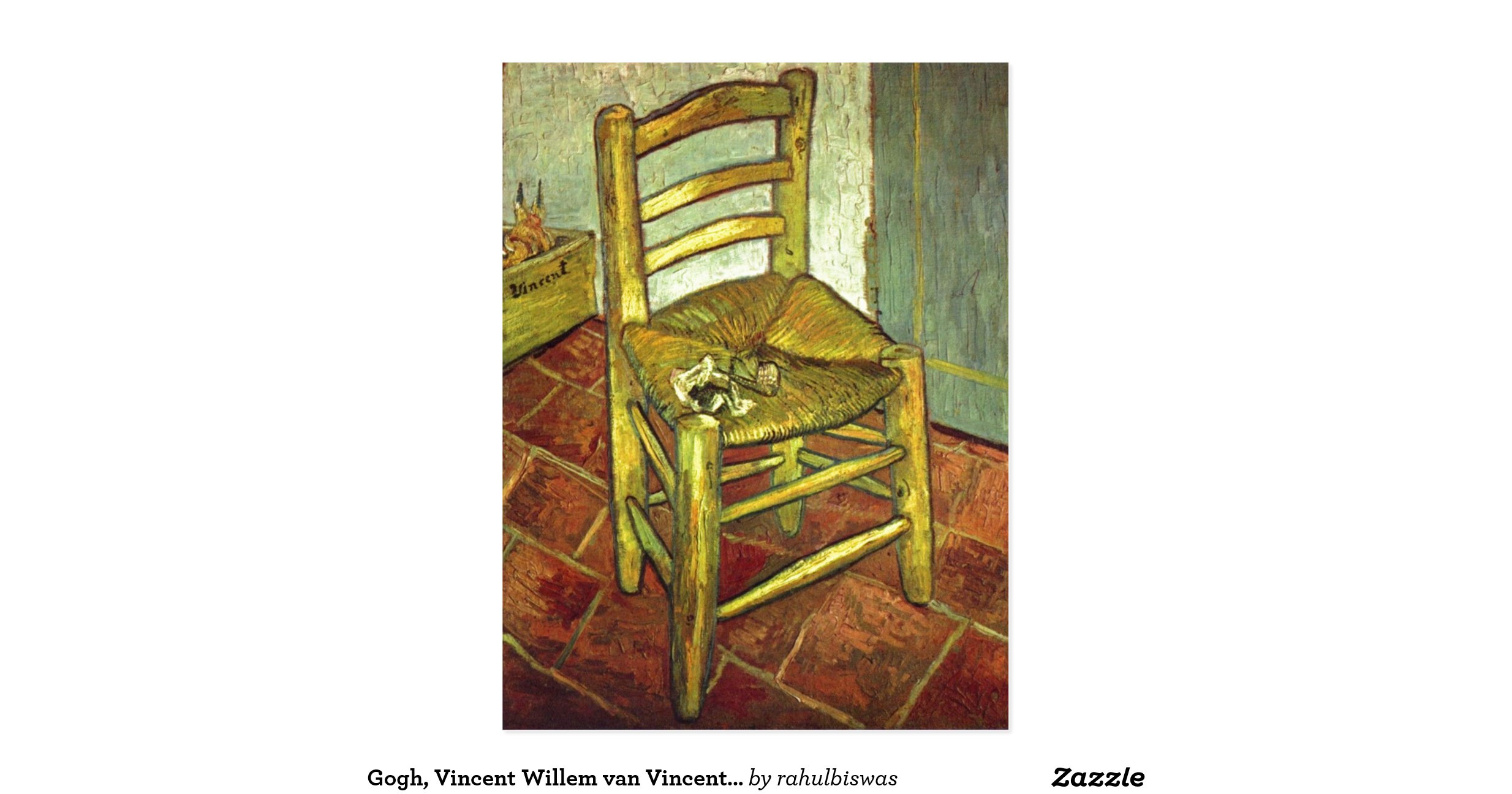 gogh vincent willem van vincents stuhl mit pfeife postcard r53093bf0a1c24e8f8df617e331468664. Black Bedroom Furniture Sets. Home Design Ideas