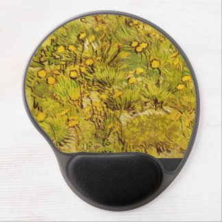 Gogh Yellow Blossoms Whimsical Office Personalize Gel Mouse Pad