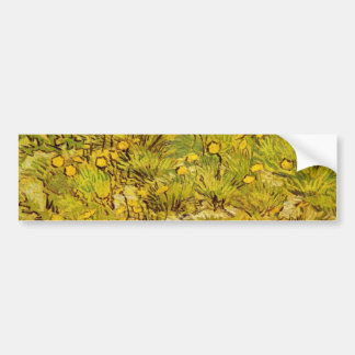 Gogh Yellow Blossoms Whimsical Wedding Personalize Bumper Sticker