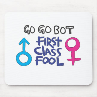 GoGoBot - First Class Fool Mouse Pad