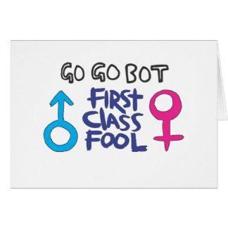 GoGoBot - tonto de la primera clase Felicitación