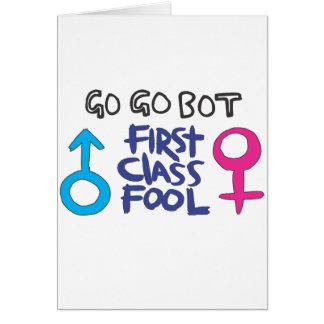 GoGoBot - tonto de la primera clase Tarjetón