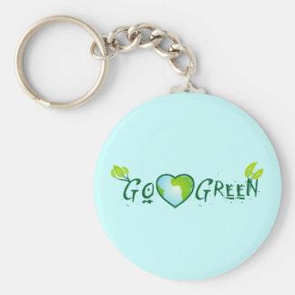 Gogreen_heart earth keychain