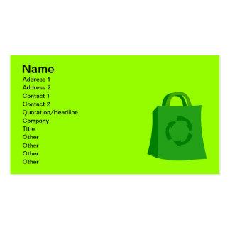 GoGreenShoppingBag_Vector_Clipart Business Card