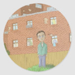 gohome classic round sticker