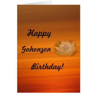 Gohonzon Birthday Card SGI Buddhism