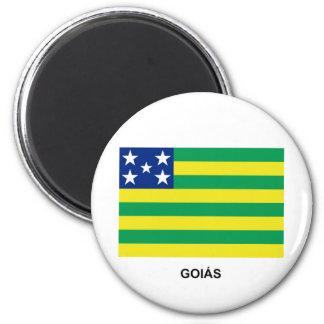 Goiás, bandera del Brasil Imán Redondo 5 Cm