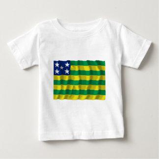 Goiás, bandera que agita del Brasil Polera