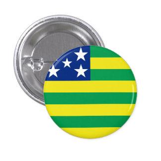 Goiás, botón brasileño de la bandera del estado pin redondo de 1 pulgada